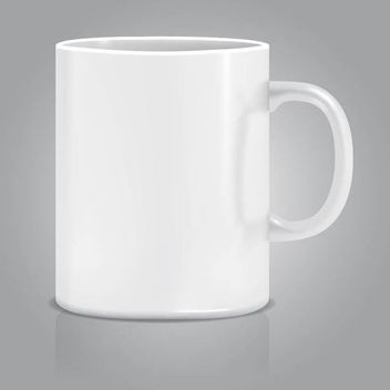Realistic White Cup - Kostenloses vector #182099
