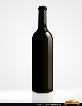 Simple Wine Bottle - Free vector #182199