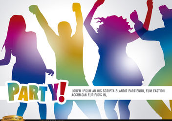 People dancing in party promo - vector gratuit #182229