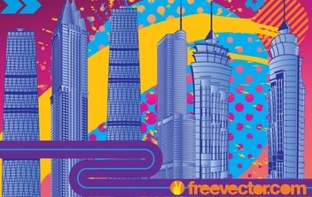 City Fireworks - Free vector #182249