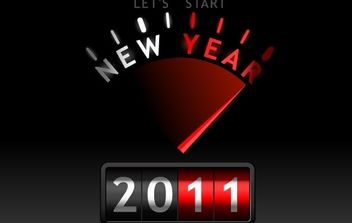 New Year 2011 Vector - Free vector #182259
