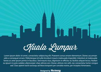 Kuala Lumpur Skyline Silhouette - Kostenloses vector #182299