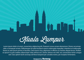 Kuala Lumpur Skyline Silhouette - vector #182299 gratis