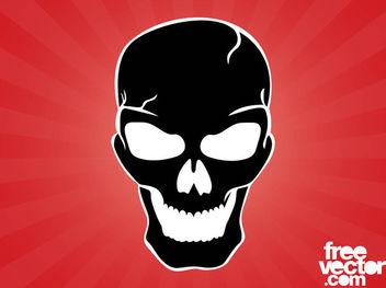Evil Silhouette Skull - Free vector #182429