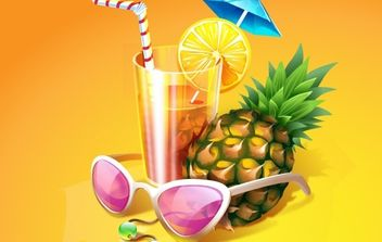 Tropical Cocktail - vector gratuit #182459