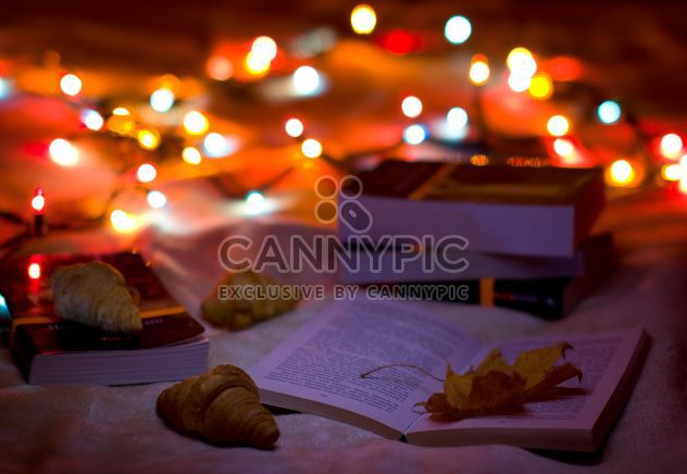 Favorite book and drink hot tea with croissants - Free image #182549
