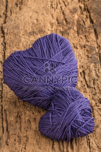 Purple hearts of thread - Free image #183009