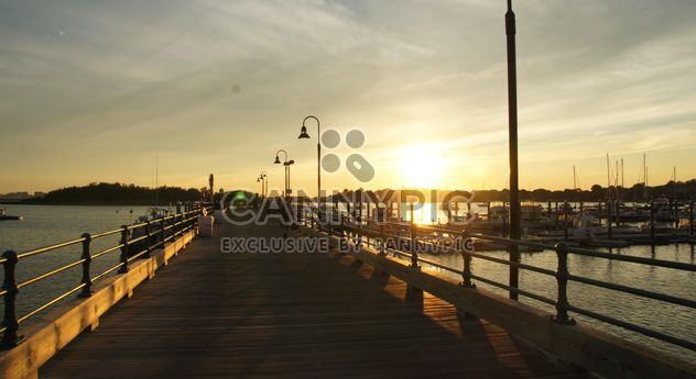 Sunset in the Boston Harbor - Free image #183359