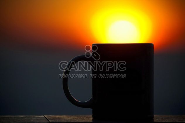 Cup silhouette at sunset - Free image #183479