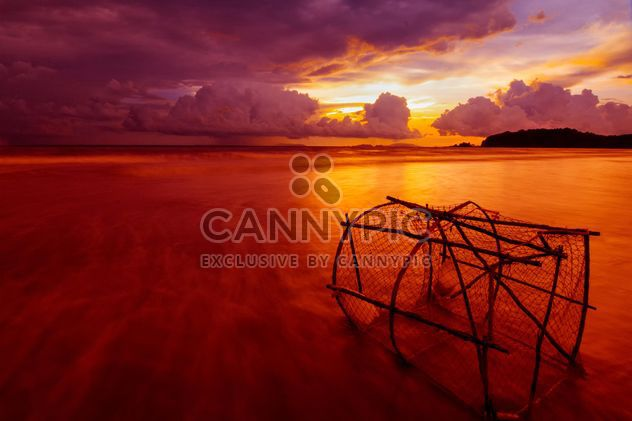 Cloudy sunset on a beach - Free image #183519