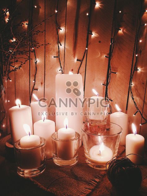 Candles and garlands - Free image #183749