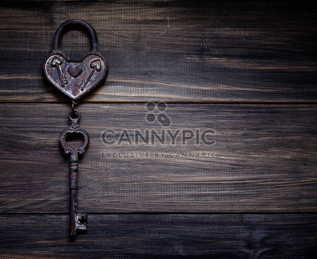Retro iron heart with a key to the Valentine's day - Free image #183869