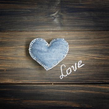 Denim heart - image #183889 gratis