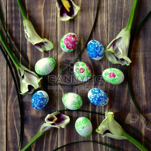 Easter eggs and flowers - Free image #184209