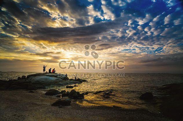 Pôr do sol na praia de Pattaya - Free image #186109