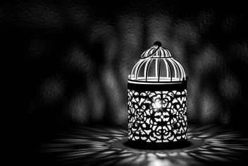 Lantern with candle inside - image #186179 gratis