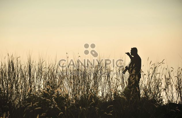 Photographer silhouette - Free image #186469
