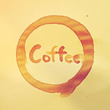 Coffee stain and word Coffee - image #186909 gratis