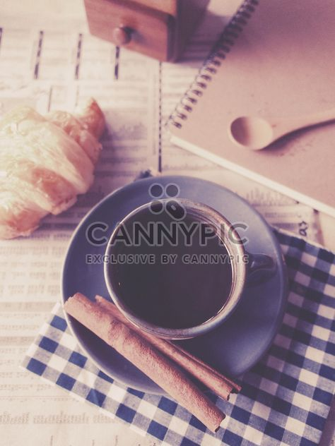 Cup of coffee with cinnamon, vintage effect - Free image #187079