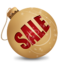 Christmas Sale Ball - Free icon #189719