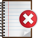 Notes Delete - icon gratuit #190519