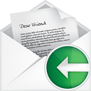 Mail Open Back - icon gratuit #191089