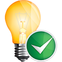 Light Bulb Accept - Kostenloses icon #191119