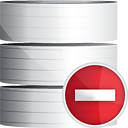 Database Remove - icon gratuit(e) #191239