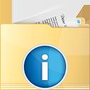 Folder Info - Kostenloses icon #191269