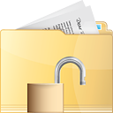 Folder Unlock - icon gratuit #191319