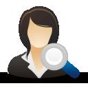 Suche geschäftsfrau - Kostenloses icon #192069