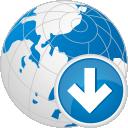 Глобус вниз - бесплатный icon #192329