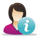 weibliche Benutzer-info - Free icon #193039