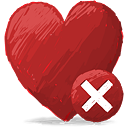 Red Heart Delete - icon #193119 gratis