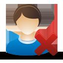 Удаление мужской пользователя - бесплатный icon #193299