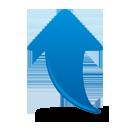 blauer Pfeil nach oben - Free icon #193819