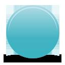 бирюзовый кнопка - бесплатный icon #194339
