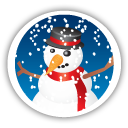Merry Christmas Snowman - icon gratuit #194649