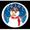 Merry Christmas Snowman - Free icon #194649