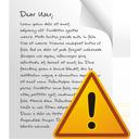 страница предупреждение - Free icon #195579