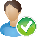 usuario acepta - icon #196209 gratis