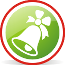 Christmas Tree Bell Rounded - icon gratuit #197059