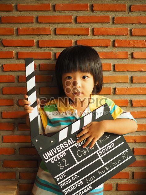 Criança e diretor badalo - Free image #197979