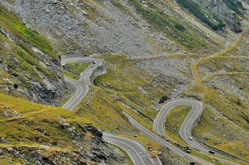 winding road transylvania carpathians mountains - бесплатный image #198119