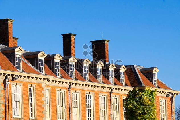 Stately home against blue sky - Free image #198249