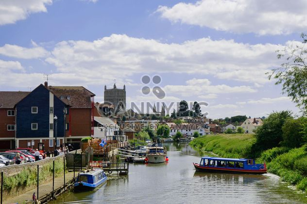 Boats on river and houses on riverside - Free image #198299