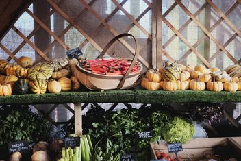 Counter with vegetables at market - image gratuit #198349