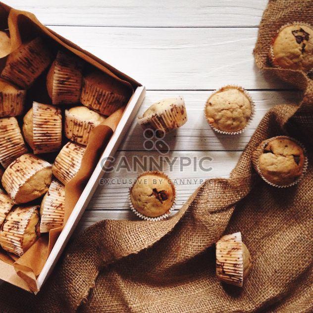Banana and chocolate muffins - Free image #198519
