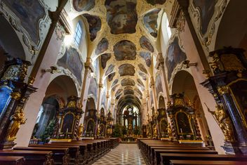 cathedral in czech republic indoors,st. vitus cathedral - бесплатный image #198609