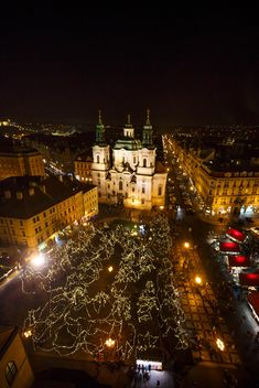 square at night in czech republic - image gratuit(e) #198639